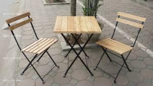 Bàn ghế gổ cafe giá rẻ tại xưởng sản xuất HGH 244