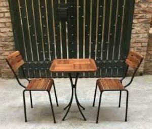 Bàn ghế gổ cafe giá rẻ tại xưởng sản xuất HGH 245