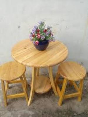 Bàn ghế gổ cafe giá rẻ tại xưởng sản xuất HGH 246