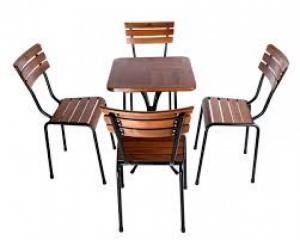 Bàn ghế gổ cafe giá rẻ tại xưởng sản xuất HGH 249