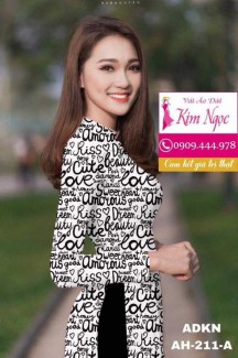 Vải áo dài in đẹp ADKN211