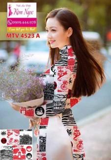 Vải áo dài in MTV4523
