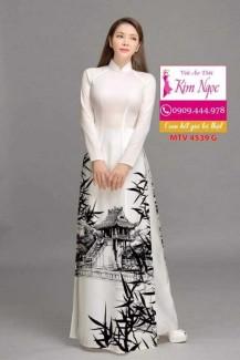 Vải áo dài in hình đẹp MTV 4539A
