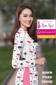 Vải áo dài in hình mẫu đẹp TNAD847