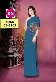 Vải áo dài in KN3105