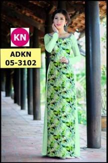 Mẫu vải áo dài in hình đẹp KN3102