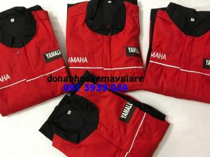 Quần áo thợ sửa xe, quần áo thợ yamaha, cung cấp đồng phục xe máy