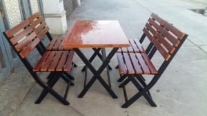 bàn ghế gỗ quán nhậu giá rẻ tại xưởng sản xuất HGH 580