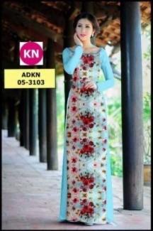 Vải áo dài in đẹp KN3103