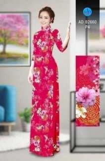 Vải áo dài Tươi như hoa AD B2660