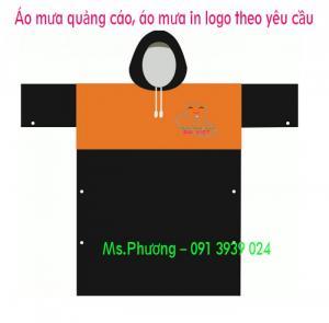 Áo mưa cánh dơi in logo giá rẻ tại quận tân phú, xưởng sản xuất áo mưa