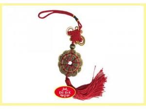Đồng Xu Phong Thuỷ 12 Đế Tết Dây Lụa Đỏ
