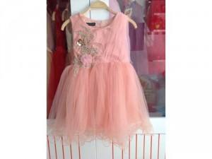 Set đầm công chúa kèm vòng hoa cho bé