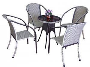bàn ghế cafe mây nhựa giá rẻ tại xưởng sản xuất HGH 5900