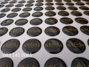 In tem decal giấy, tem bảo hành, decal phản quang phủ keo nổi