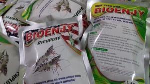 Men Bổ sung enzyme, vi sinh vật có lợi vào thức ăn tôm cá, giúp nong to đường ruột