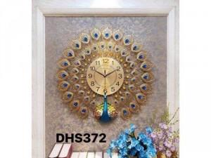 Đồng hồ trang trí chim công DHS372