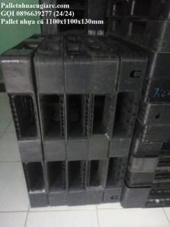 Pallet nhựa cũ 1100x1100x130mm
