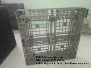 Pallet nhựa cũ 1100x1100x140mm