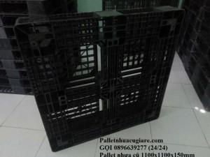 Pallet nhựa cũ 1100x1100x150mm