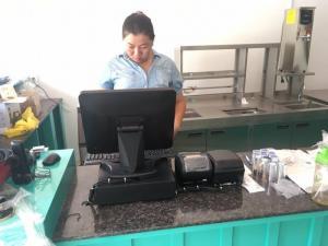 Bán Máy tính tiền Cảm Ứng, Máy in bill, Máy in tem cho Quán Trà Sữa tại Hà Nội Hà Nam