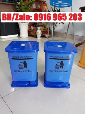 Thùng rác đạp chân 15 lít, thùng rác y tế, thùng rác 15 lít có logo