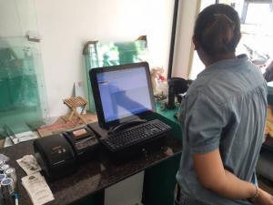 Bán Máy tính tiền Cảm Ứng, Máy in bill, Máy in tem cho Quán Trà Sữa tại Thủ Đức Bình Thạnh