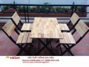 Ghế gỗ quán nhậu giá rẻ nhất g -4