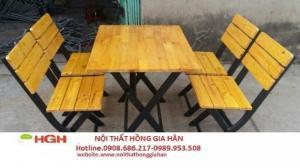 Ghế gỗ quán nhậu giá rẻ g-8
