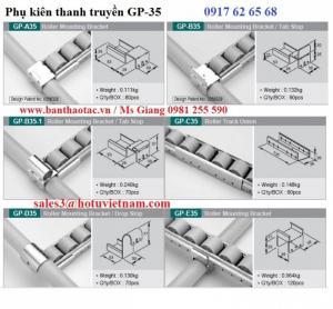 Thanh con lăn nhựa Hàn Quốc- Roller track- GP 6015 và đầu đỡ