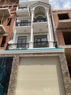 Bán nhà biệt thự khu cafe Omely, đường Đào Tông Nguyên, Nhà Bè, DT 5.4 x 16m, 3 lầu 4PN