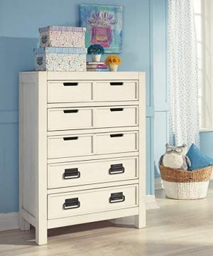 Tủ ngăn kéo để đồ màu trắng thương hiệu ashley B523-45