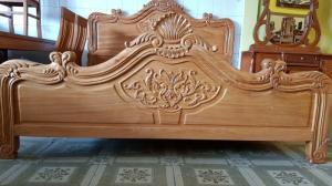 Giường ngủ hoa văn gỗ cực chất lượng