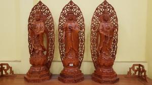 Bộ Tượng Tam Thế Phật Gỗ Hương Đá. Đồ Gỗ Tân Phú