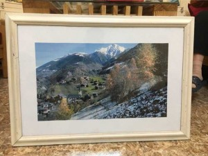 Tranh phong cảnh Áo, châu Âu, tranh in nhập khẩu, khung gỗ tự nhiên sơn trắng, ảnh đẹp tuyệt mỹ