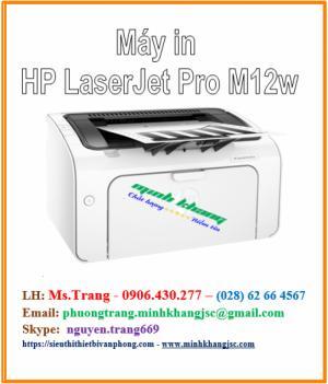 Máy in hp laserjet pro m12w giá siêu tốt