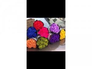 Bóng hoa hồng sáp 12 bông nhiều màu đẹp