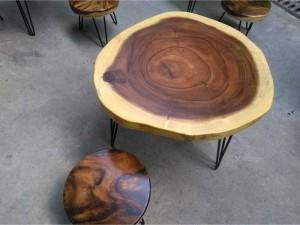 Bàn cafe gỗ tự nhiên 1