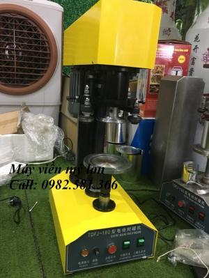 Máy viền nắp nhôm lon nước ngọt, máy viền nắp đồ hộp bán tự động