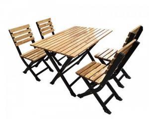 Bàn ghế gổ quán nhậu giá rẻ tại xưởng sản xuất HGH 736
