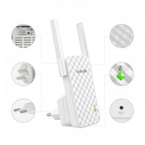 Bộ Kích Sóng Wifi Repeater 300Mbps Tenda A9 (Chính Hãng)