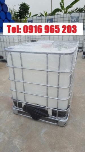Bình Dương: tank ibc 1000 lít mới, bồn nhựa vuông 1000 lít đựng hóa chất