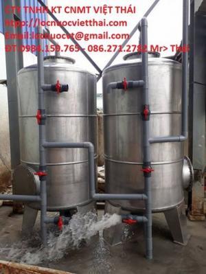 Máy lọc nước giếng phèn với bình lọc inox 304 dùng trong ăn uống...