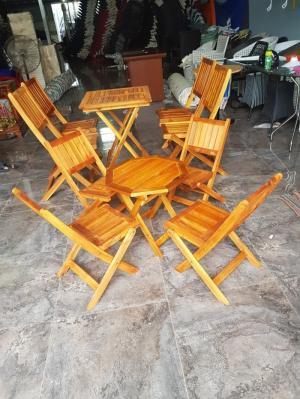 Bộ bàn ghế gỗ xếp lùn giá tốt