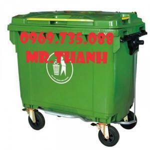 Thùng rác nhựa 120L các loại xe gom rác 400L, 660L