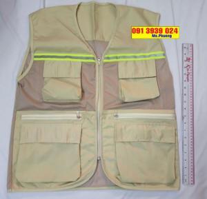 Áo gile phối lưới, áo ghi lê, áo gile đồng phục cho kỹ sư xây dựng, may áo gile