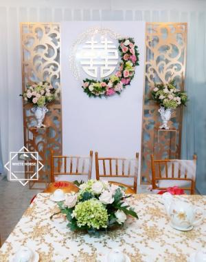 Dịch vụ trang trí gia tiên, nhà hàng tiệc cưới đẹp sang trọng tại TPHCM - WHITE HORSE DECOR
