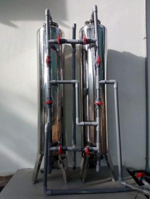 Bộ lọc nước phèn với bình lọc inox 304 dùng trong sinh hoạt gia đình .
