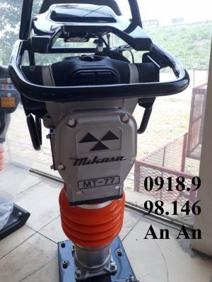 Giá máy đầm cóc mới Mikasa MT77-80kg, mới 100% động cơ honda GXR120