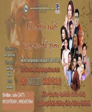 Bán vé đêm nhạc Trịnh Công Sơn  em còn nhớ hay em đã quên ngày 31/3/2019
